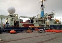 Loading the Knorr in Reykjavik