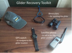 Key tools for a glider recovery.