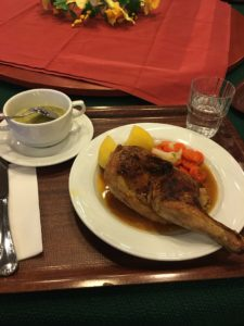 ) One of the great dinners on board (half chicken!!).